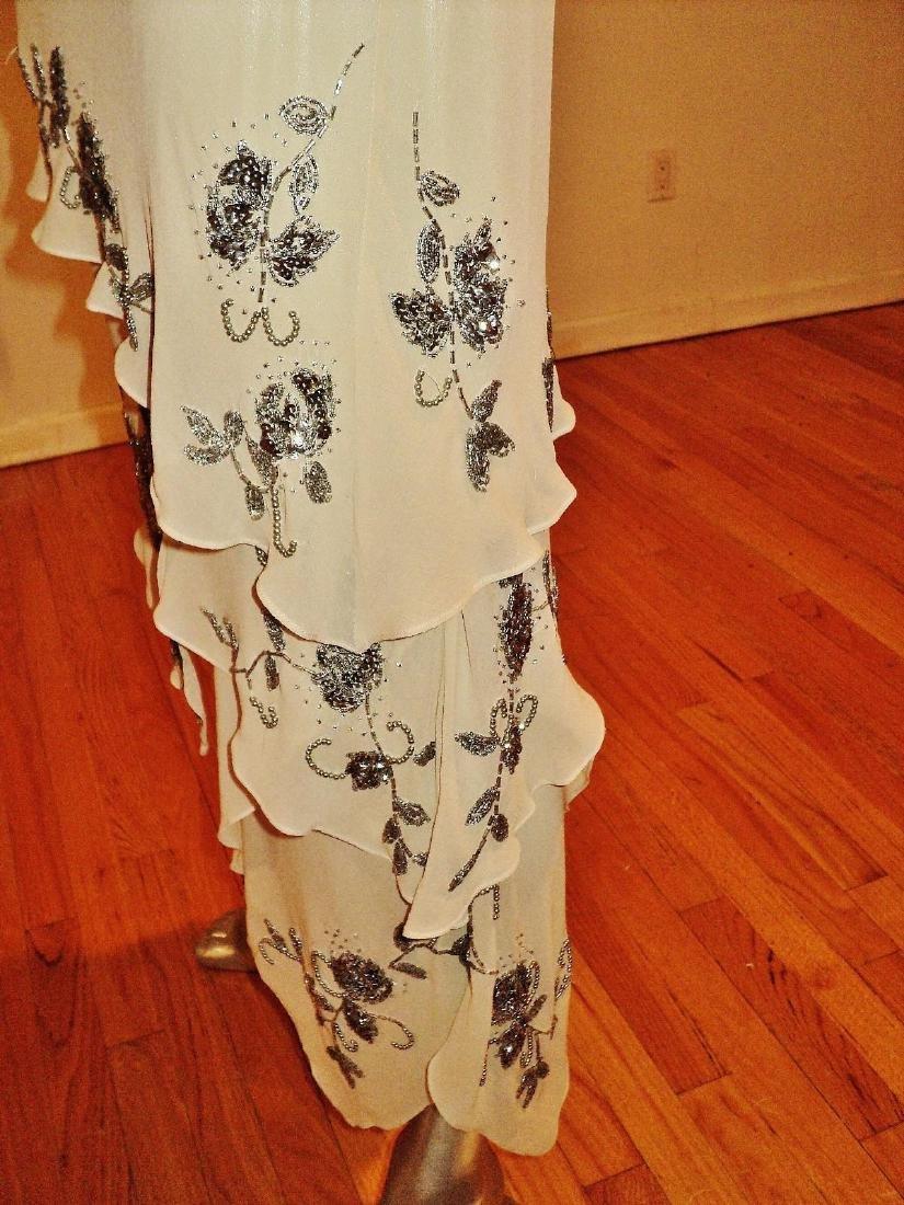 Vintage Sue Wong Layered Silk Handkerchief Dress - 9