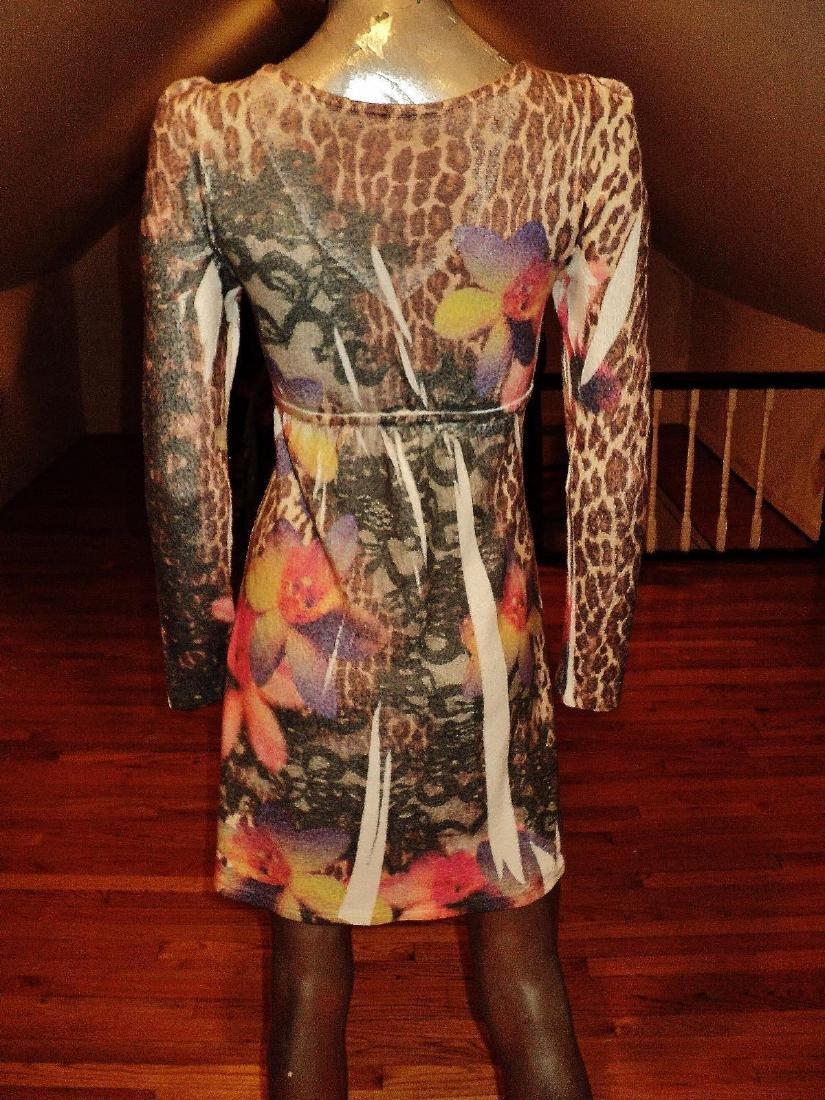 Vintage Animal Print Body Con Dress Knit Spandex - 5