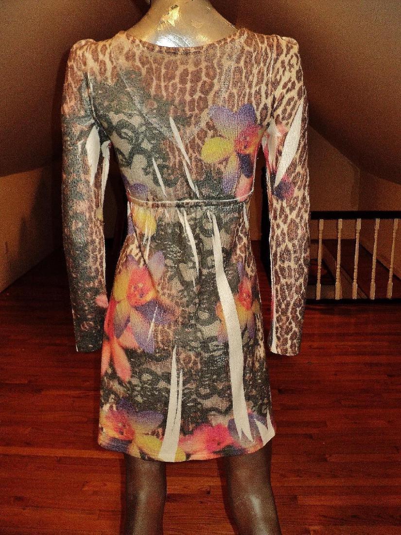 Vintage Animal Print Body Con Dress Knit Spandex - 7