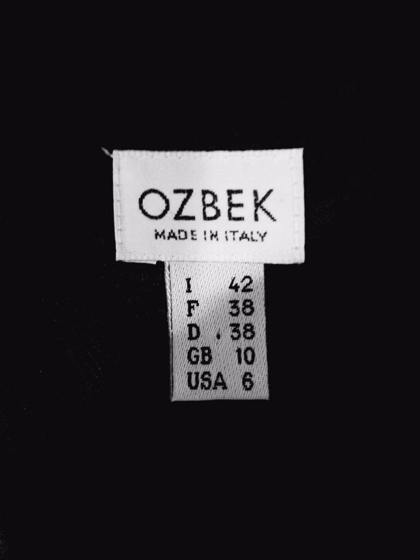 Ozbek Layering Silk Blend Gown Burnout Velour Chiffon - 7