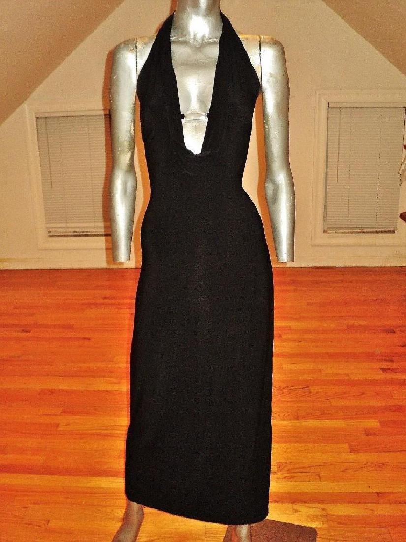 Vintage Cache' Body Con Maxi Dress Silver Front