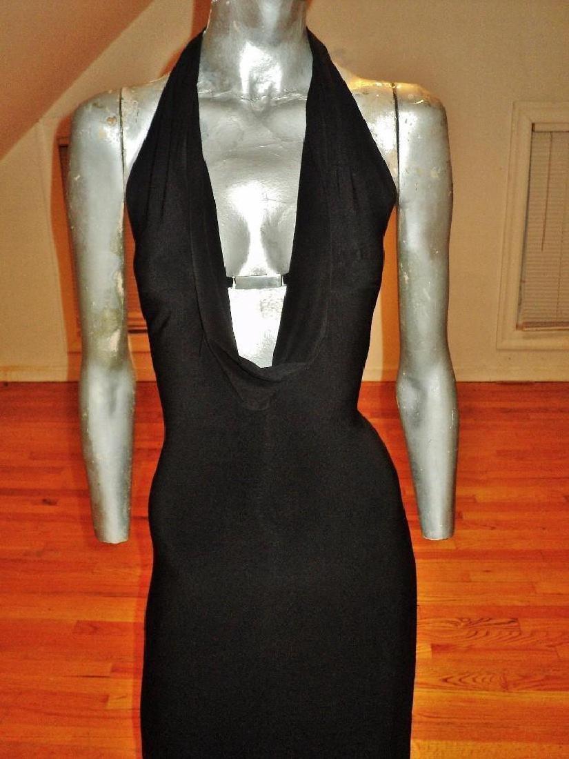 Vintage Cache' Body Con Maxi Dress Silver Front - 3