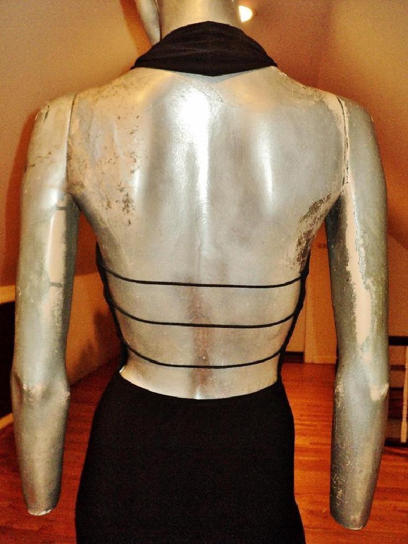 Vintage Cache' Body Con Maxi Dress Silver Front - 8