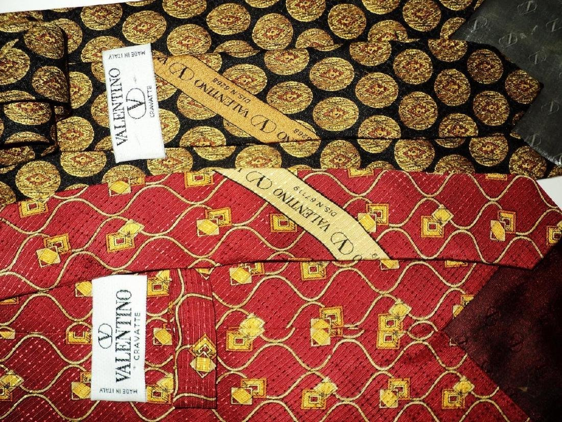 Vintage Set of 5 Couture Silk Ties Circa 1960's Signed