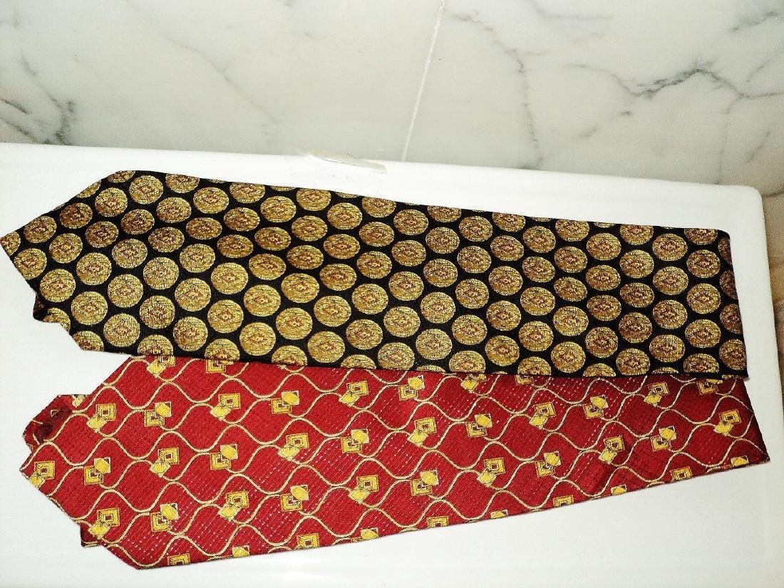 Vintage Set of 5 Couture Silk Ties Circa 1960's Signed - 2
