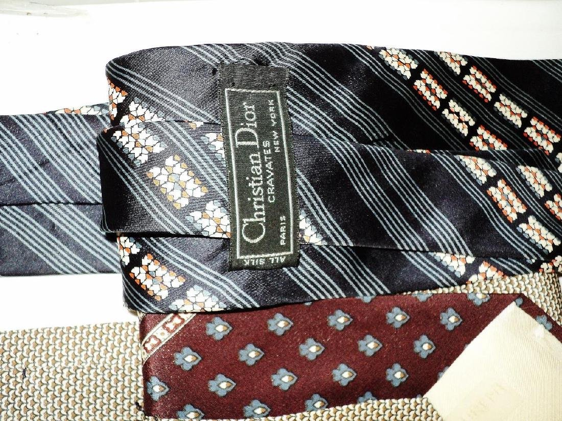 Vintage Set of 5 Couture Silk Ties Circa 1960's Signed - 5