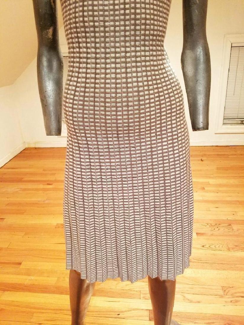 French Dress/Jacket Ensemble Plaid Knit Chanel Style - 6