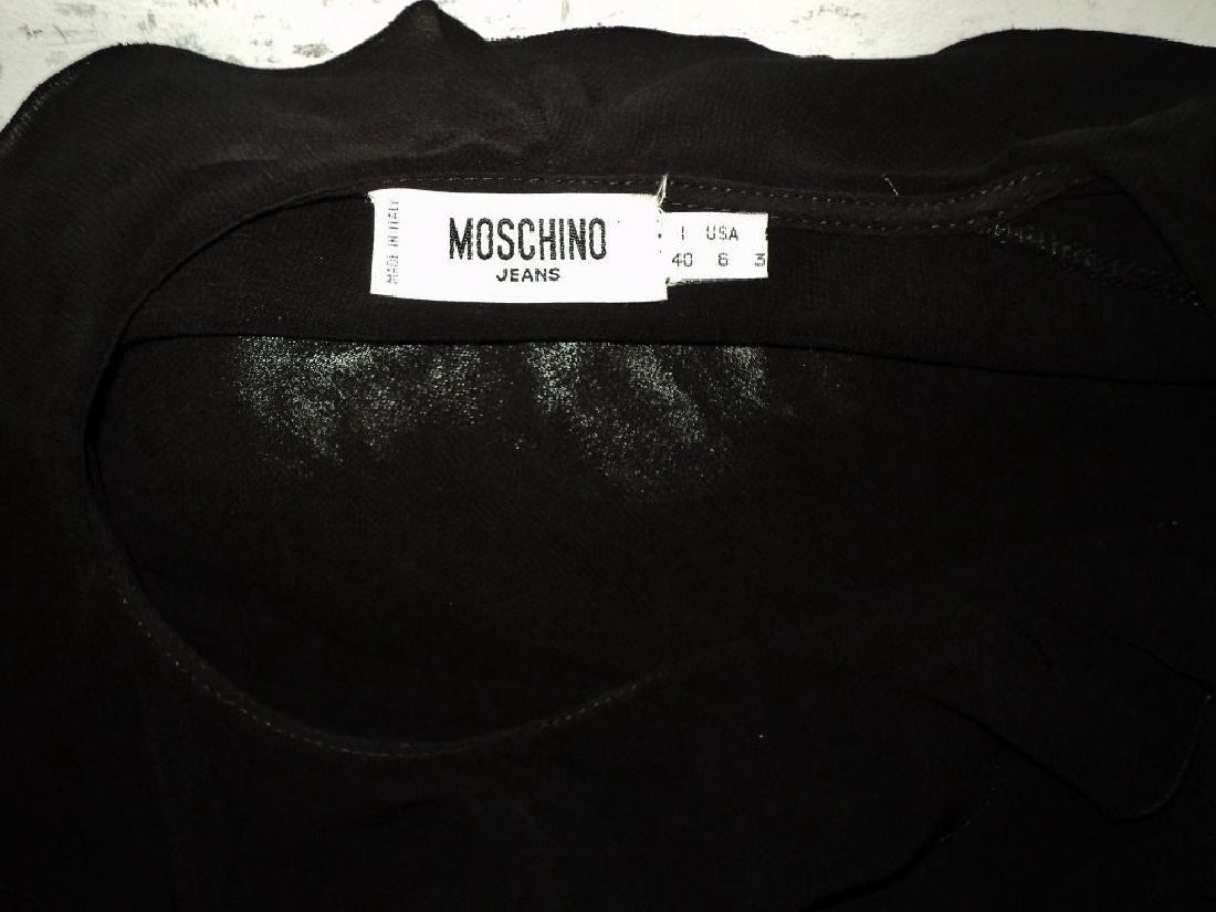 Moschino Silk Layering Ruffled Dress - 10
