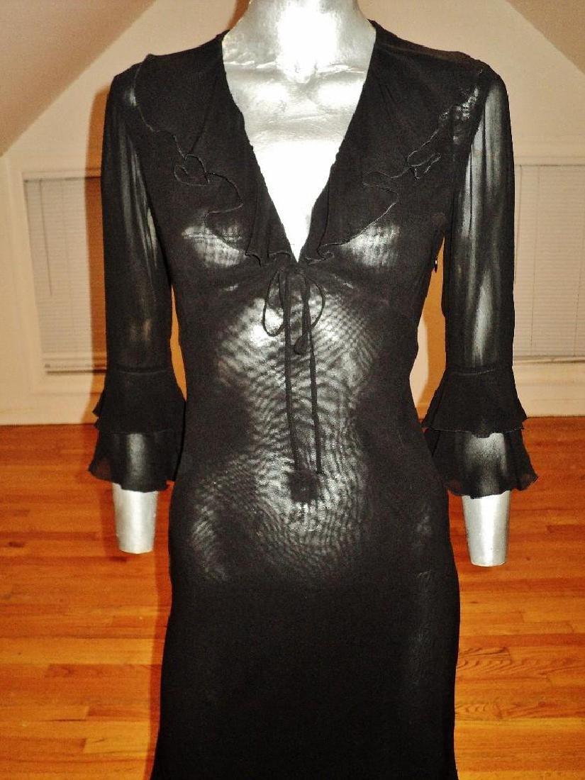 Moschino Silk Layering Ruffled Dress - 2