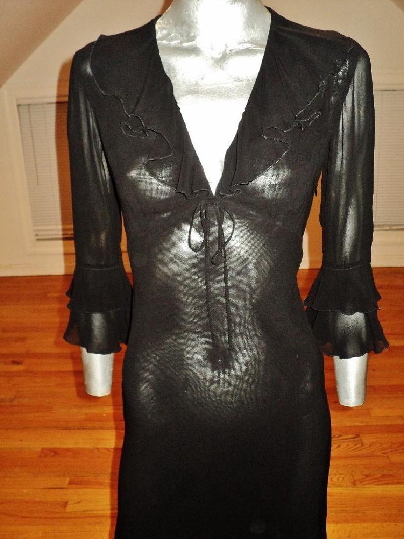 Moschino Silk Layering Ruffled Dress - 3