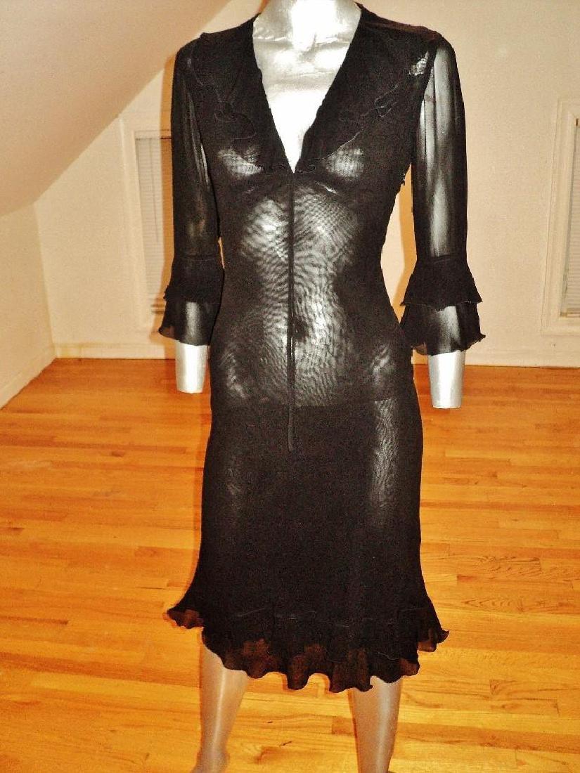 Moschino Silk Layering Ruffled Dress - 4