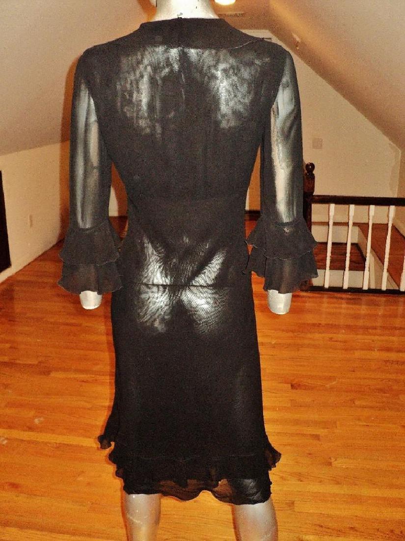 Moschino Silk Layering Ruffled Dress - 7