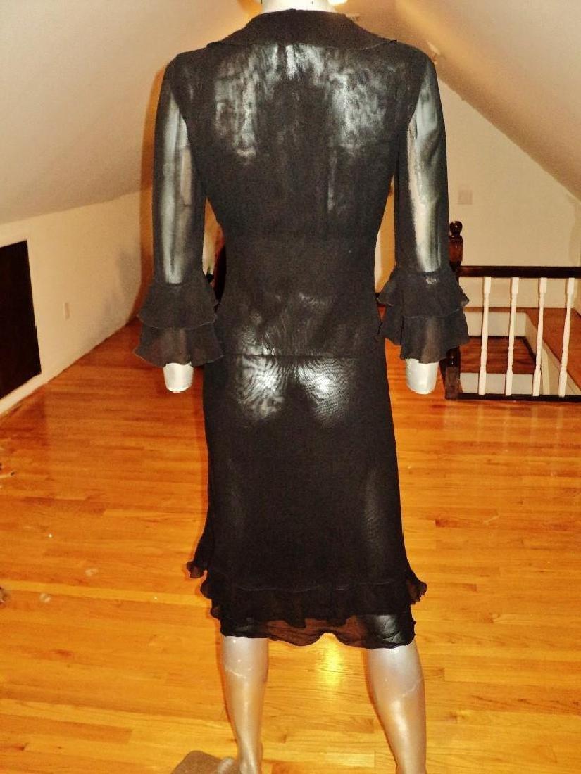 Moschino Silk Layering Ruffled Dress - 9