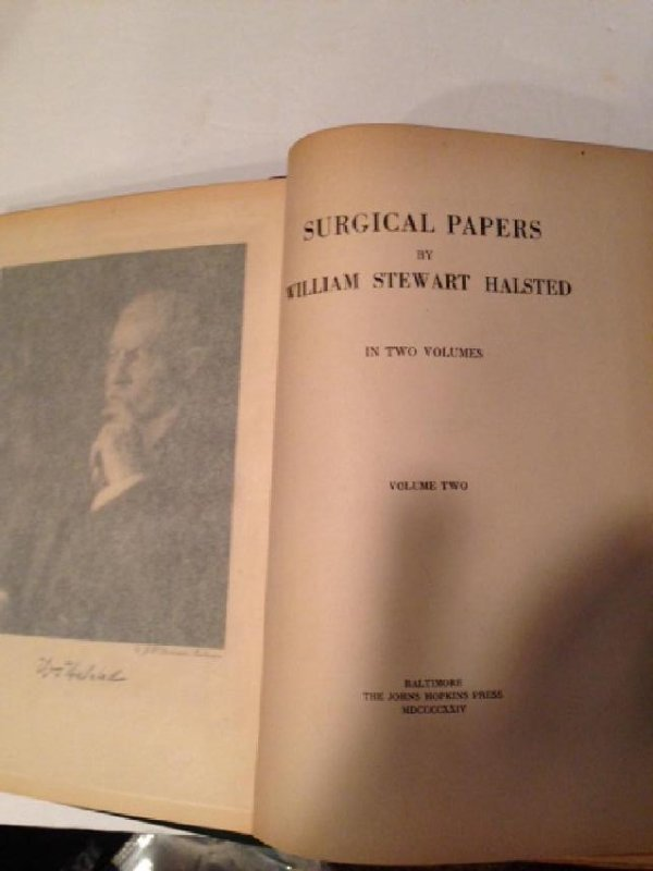 Selected Papers W. Stewart Halstead First Edition 1924 - 4