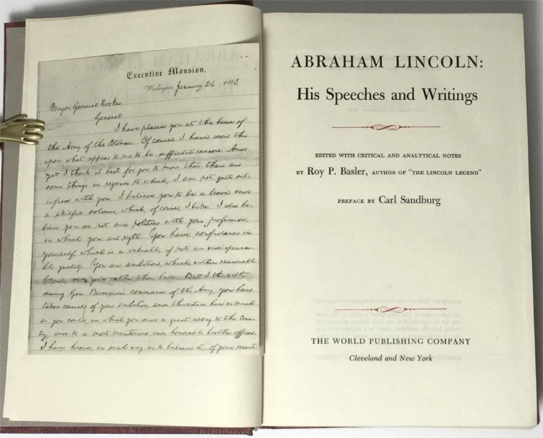 Abraham Lincoln Speeches Writings First Printing 1946 - 3
