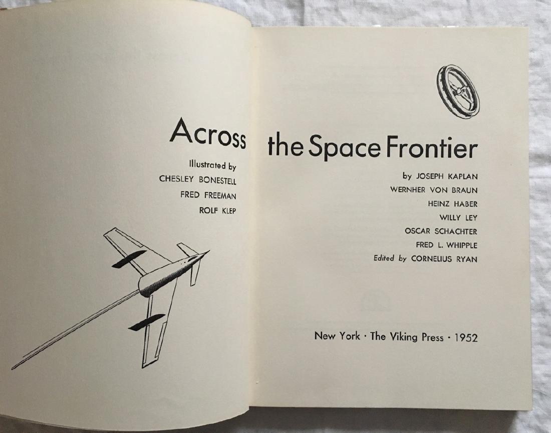 Across the Space Frontier Wernher Von Braun First Print - 3
