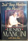 Henry Mancini Mention Music? Signed First Edition 1989