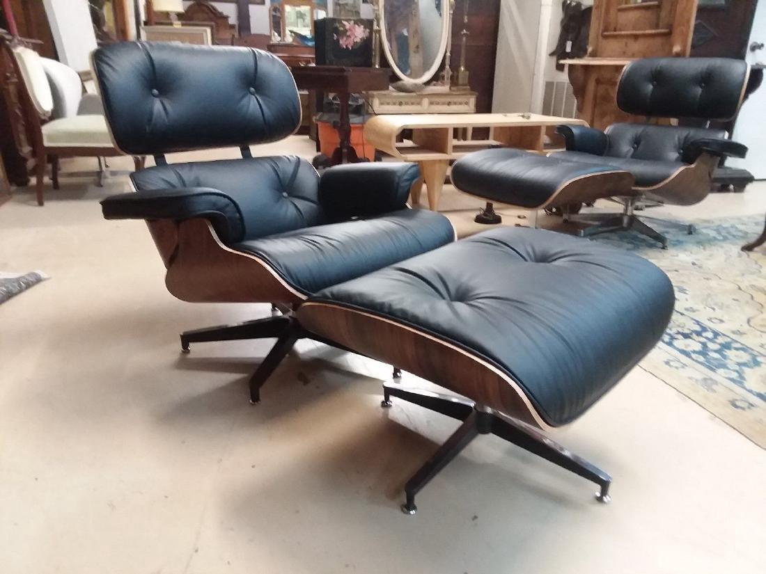 Mid Century Modern Eames Lounge Chair & Ottoman Replica