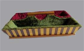Whimsical Antique Tote Box with Original Paint