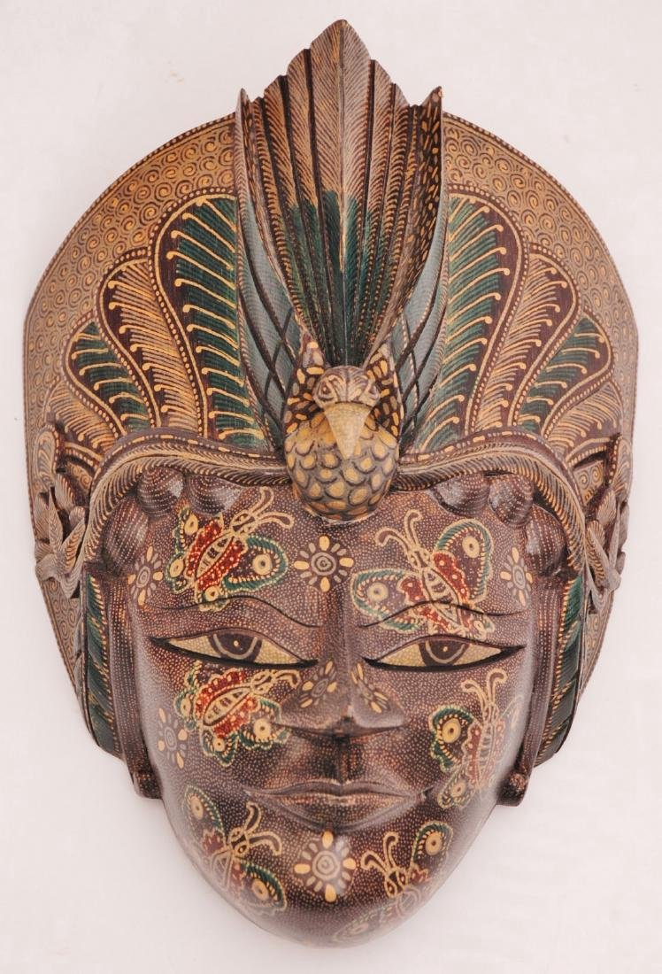 Bimo Kurdo Coconut Handpainted Mask