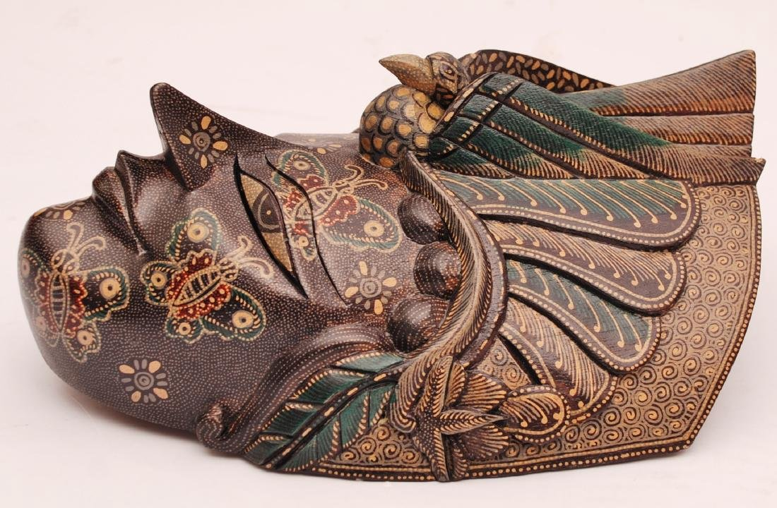 Bimo Kurdo Coconut Handpainted Mask - 3