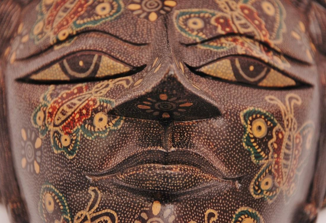 Bimo Kurdo Coconut Handpainted Mask - 6