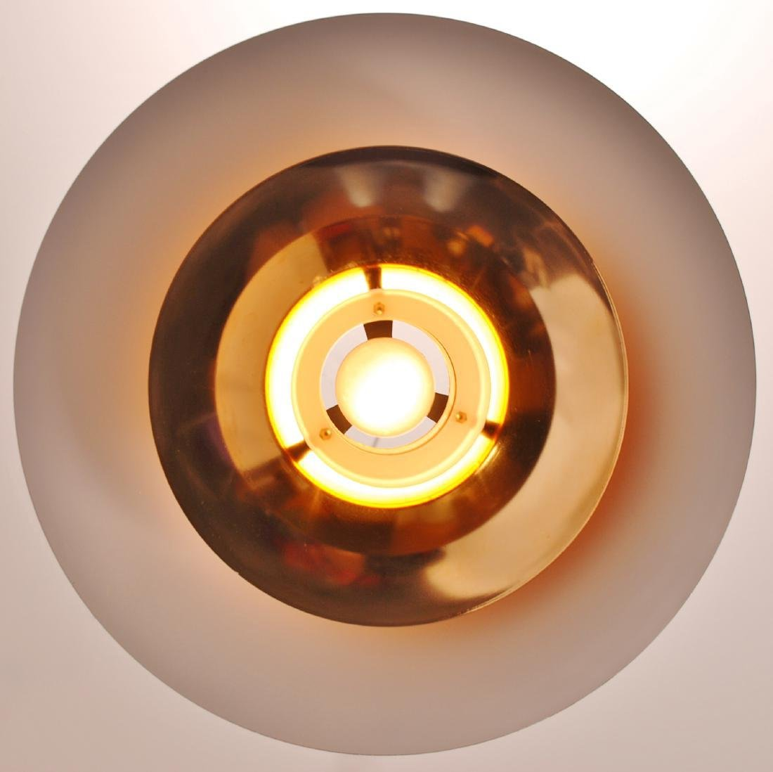 Retro Danish Horn Belysning Red Pendant Lamp, 1970s - 10