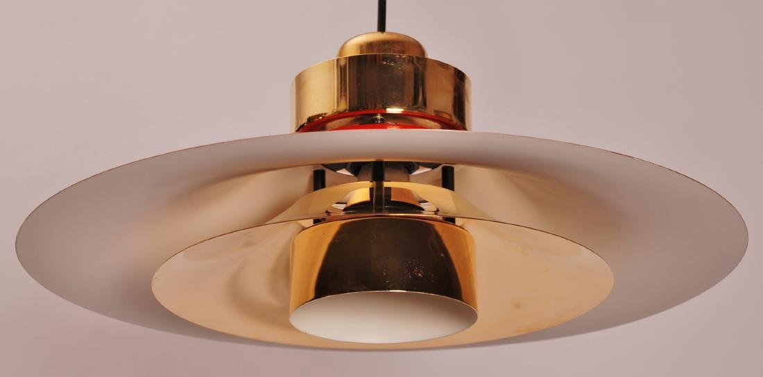 Retro Danish Horn Belysning Red Pendant Lamp, 1970s - 2
