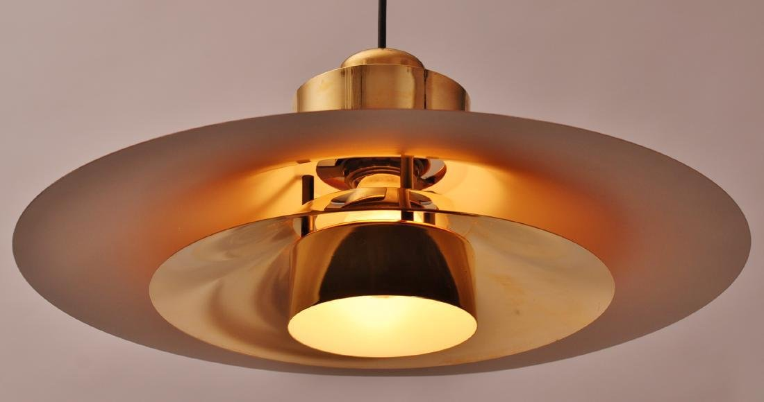 Retro Danish Horn Belysning Red Pendant Lamp, 1970s - 5