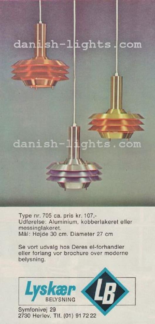 Vintage Danish Lyskaer Pendant Lamp, 1969 - 9