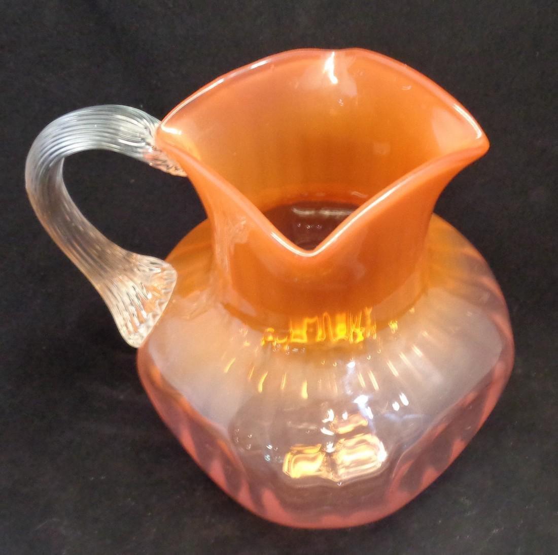 Antique Loetz Victorian Bohemian Glass Pitcher, 1890 - 2