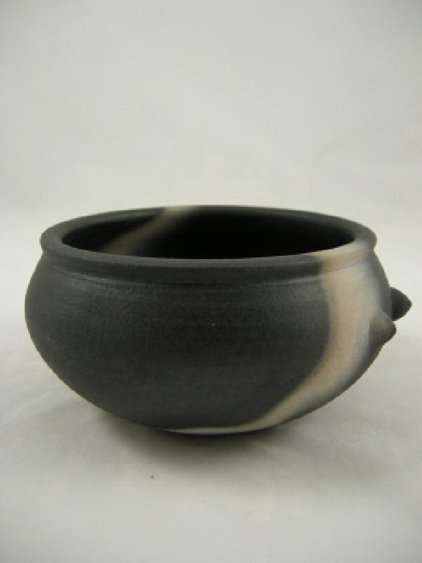 John Leach Large Black Mood Teabowl