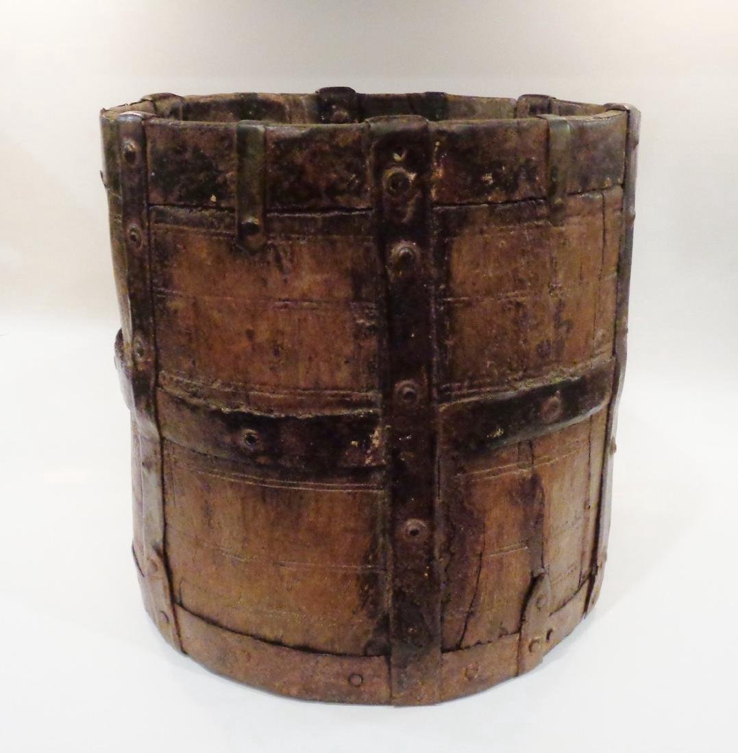 Antique Primitive Wooden Bucket
