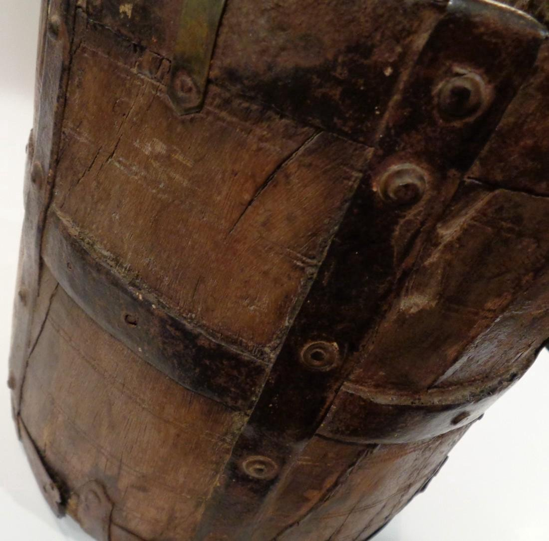 Antique Primitive Wooden Bucket - 3