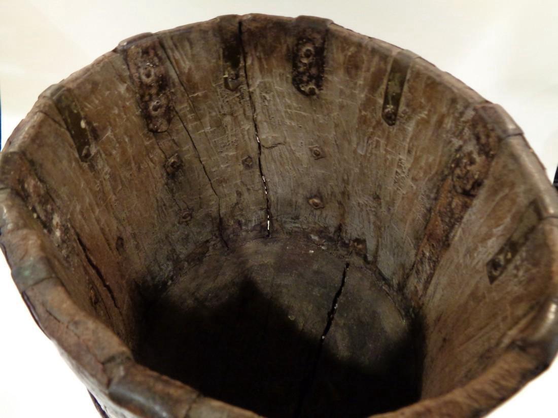 Antique Primitive Wooden Bucket - 4
