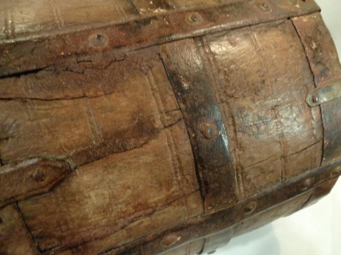 Antique Primitive Wooden Bucket - 7
