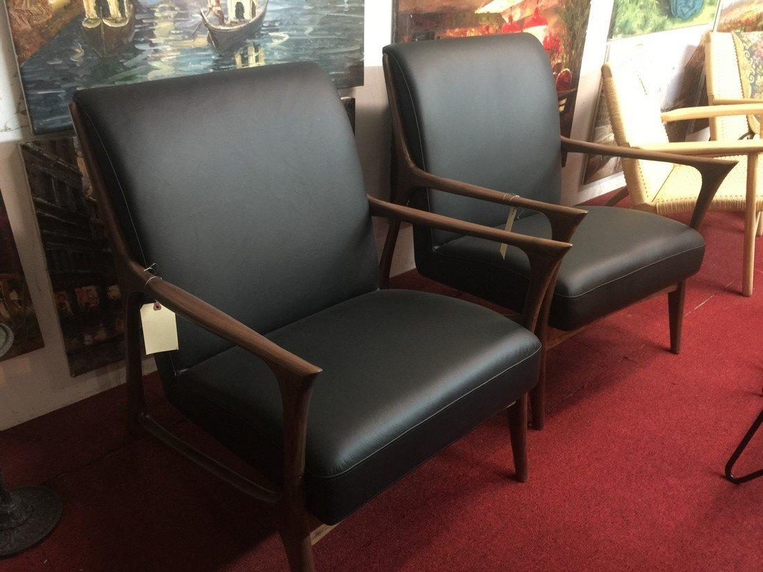 Pair Mid Century Modern Eames Sharp Chair Replica
