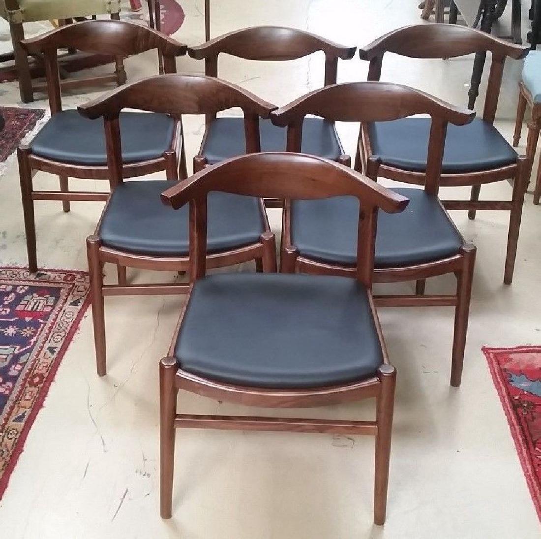 6Mid Century Modern Hans Wegner Style Elbow Chairs