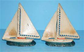 Sailboat Cast Iron Bookends