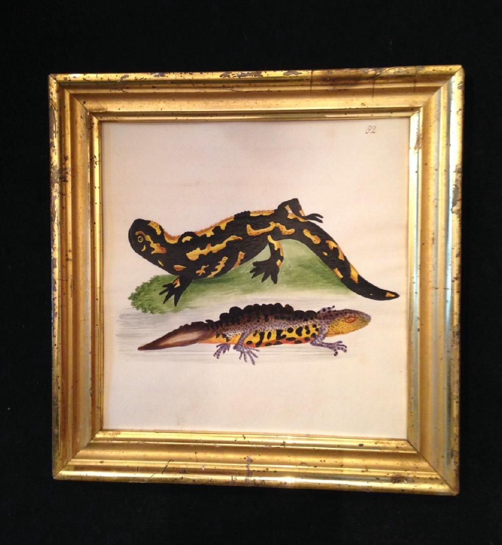 1850s Gauche Painting