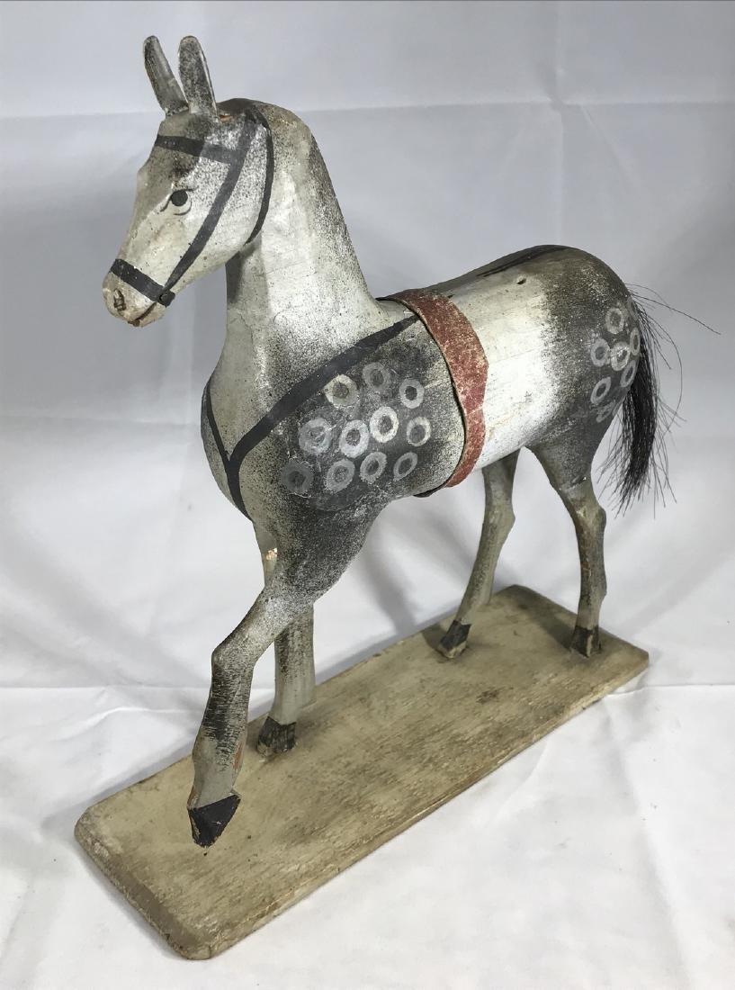 Folk Art Horse Toy - 2