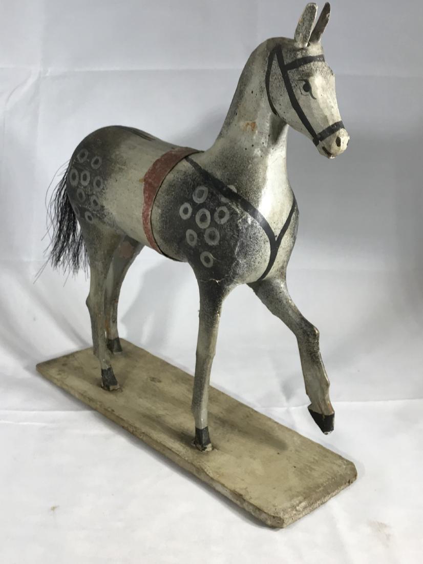 Folk Art Horse Toy - 3