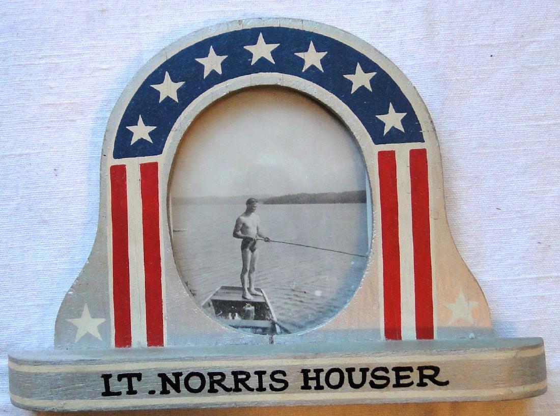 Lt. Morris World War II Handmade Wooden Frame