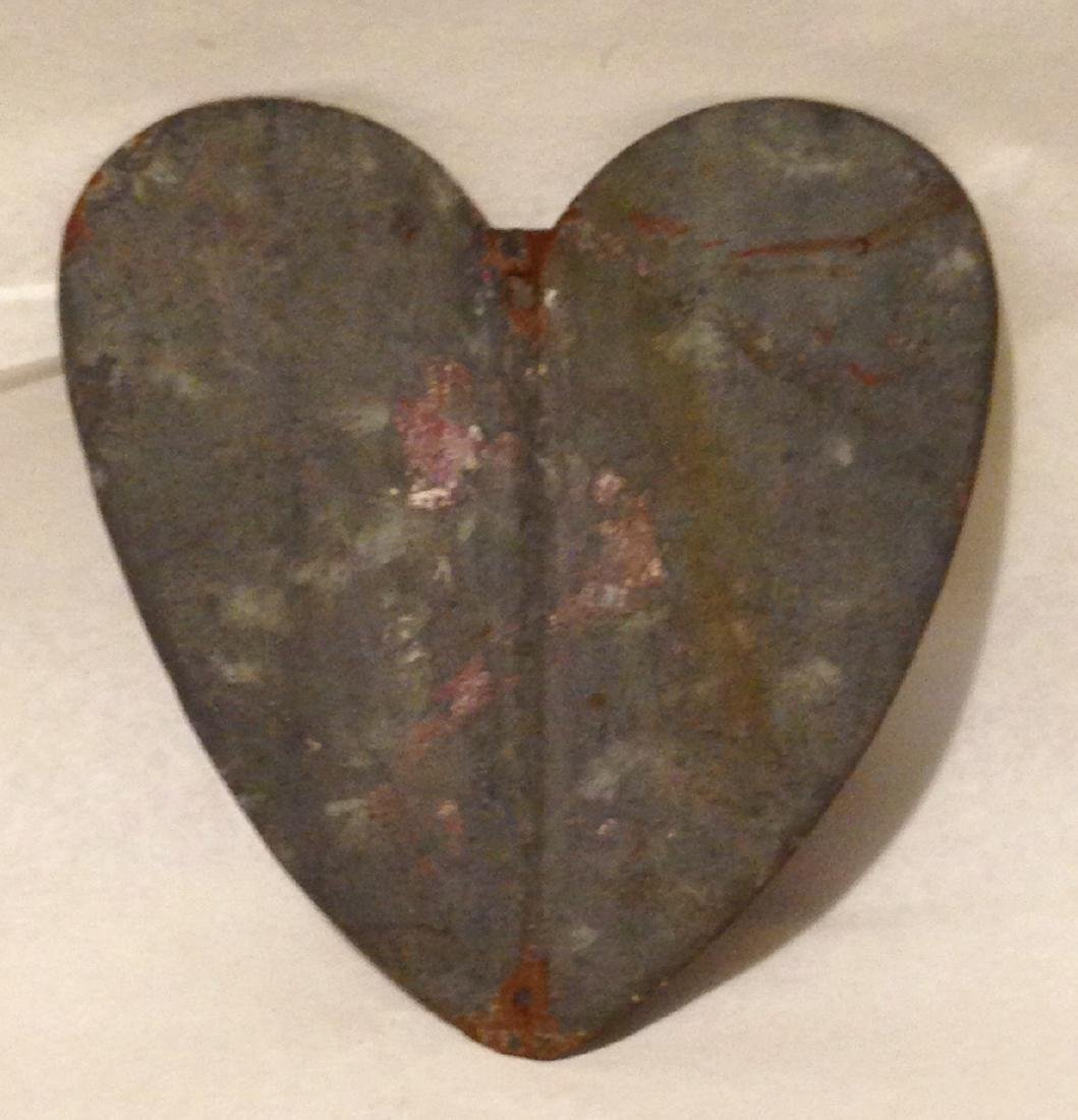 Early 20th Century Metal Heart - 2