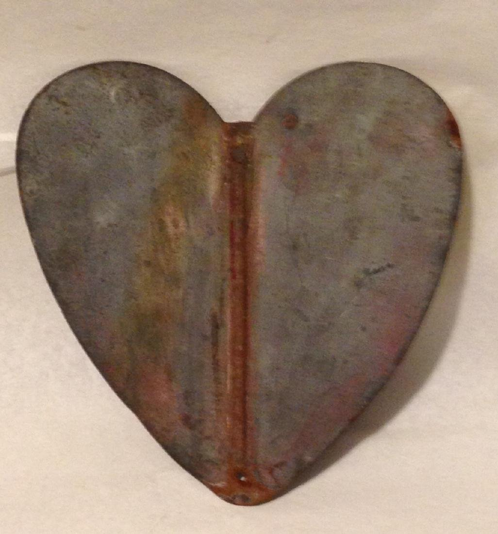Early 20th Century Metal Heart - 3