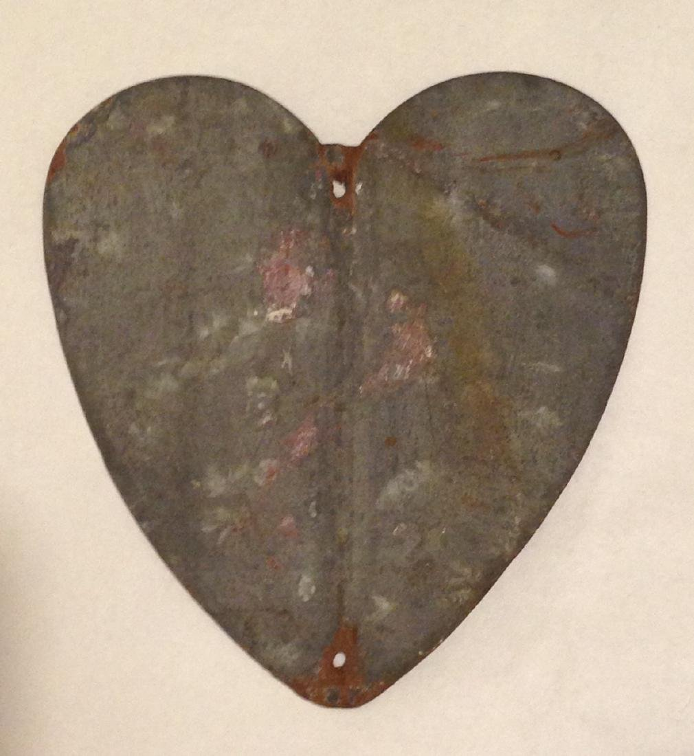 Early 20th Century Metal Heart - 4