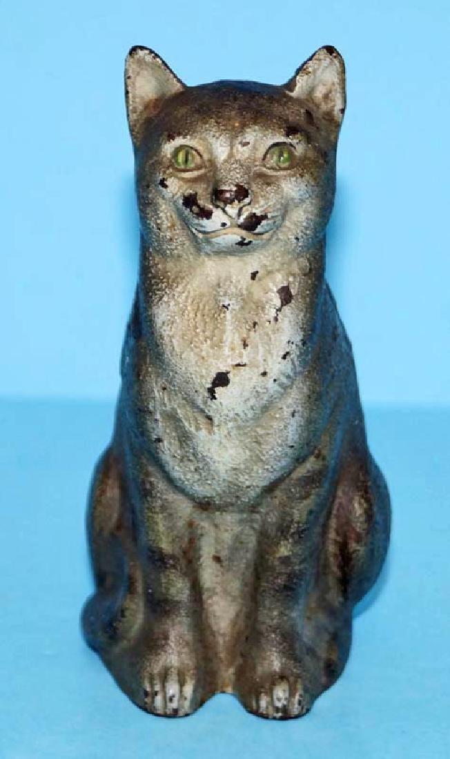 Tabby Cat Cast Iron Doorstop