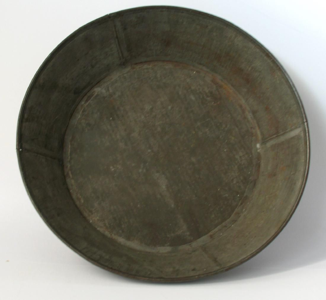 Early Tinsmith Made Wash Pan
