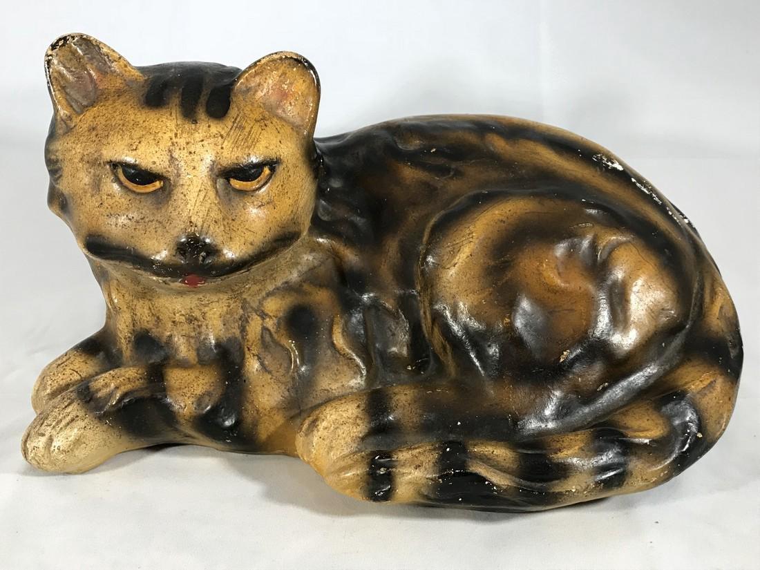 Chalk Cat Folk Art Bold Color