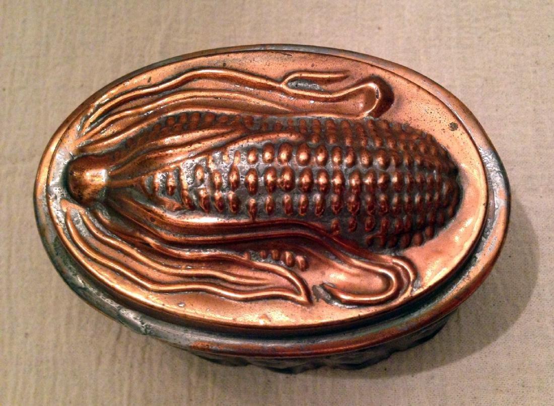 Copper Corn Mold 19th Century
